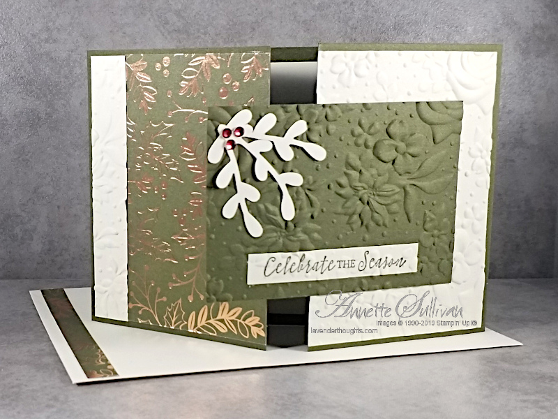 A Christmas Gate Fold Fancy Fold Card for the Sketch Challenge at Splitcoaststampers