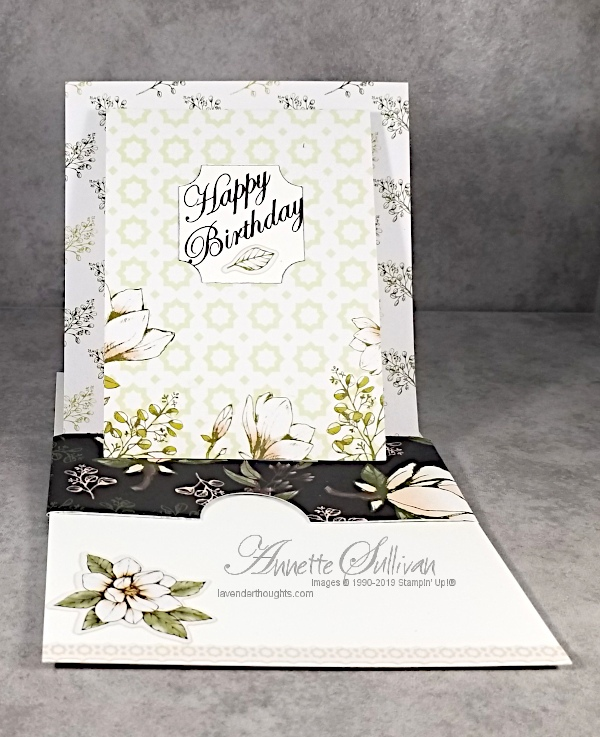 Fancy Fold Pop-Up Easel Card with MagnoliaBlooms