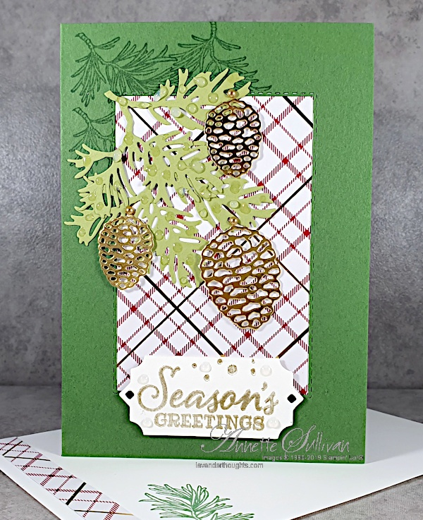 Peaceful Boughs for the Color Challenge at Splitcoaststampers