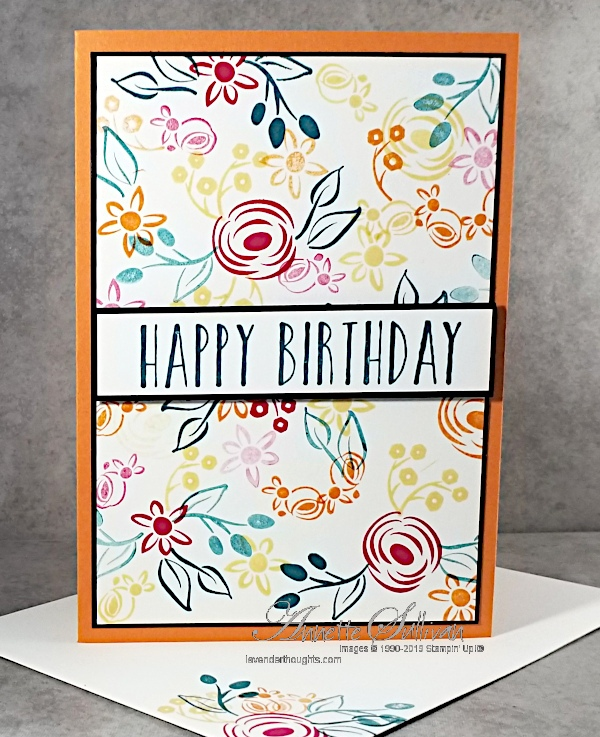 A Floral Collage from Perennial Birthday for the Color Challenge at Splitcoaststampers