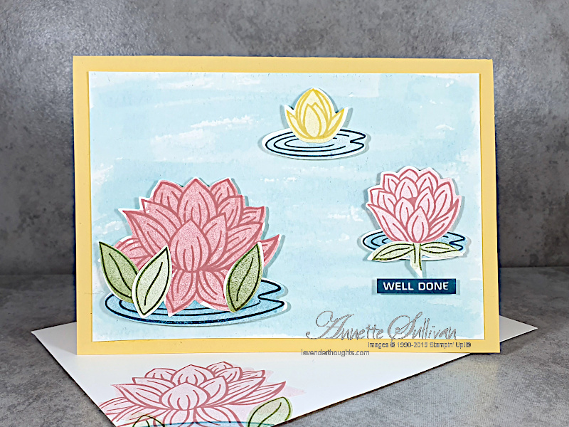 Sneak Peek of Lovely Lily Pad for the Color Challenge at Splitcoaststampers