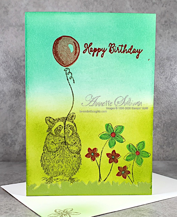 Clean and Simple, One Layer card for the Color Challenge at Splitcoaststampers