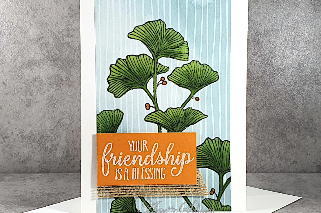 Stamping on Designer Series Paper for a Quick and EasyCard