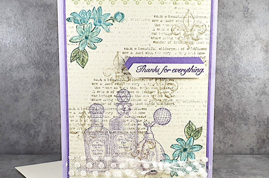 FREE PDF for this Collage style card using FancifulFragrance