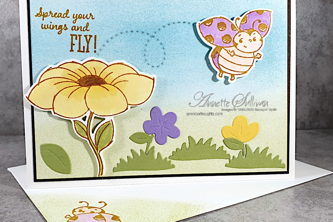 FREE PDF – Sponging and Die Cuts for a pretty pastel LittleLadybug