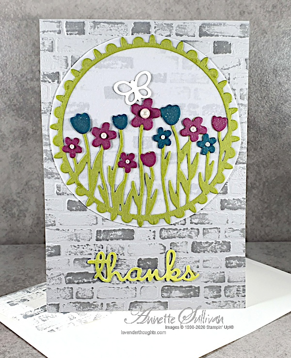 Quick and Easy card using Sending Flowers Dies for the Color Challenge at Splitcoaststampers