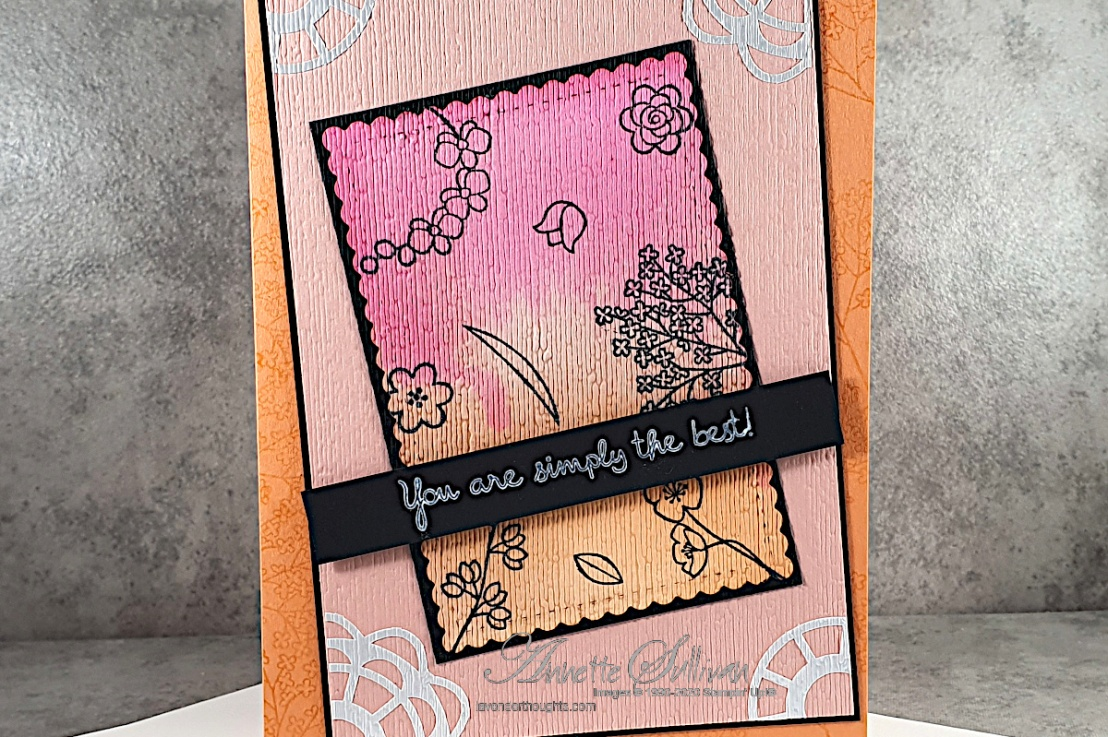 Acrylic Block Background Technique using Varied Vases for the Color Challenge at Splitcoaststampers
