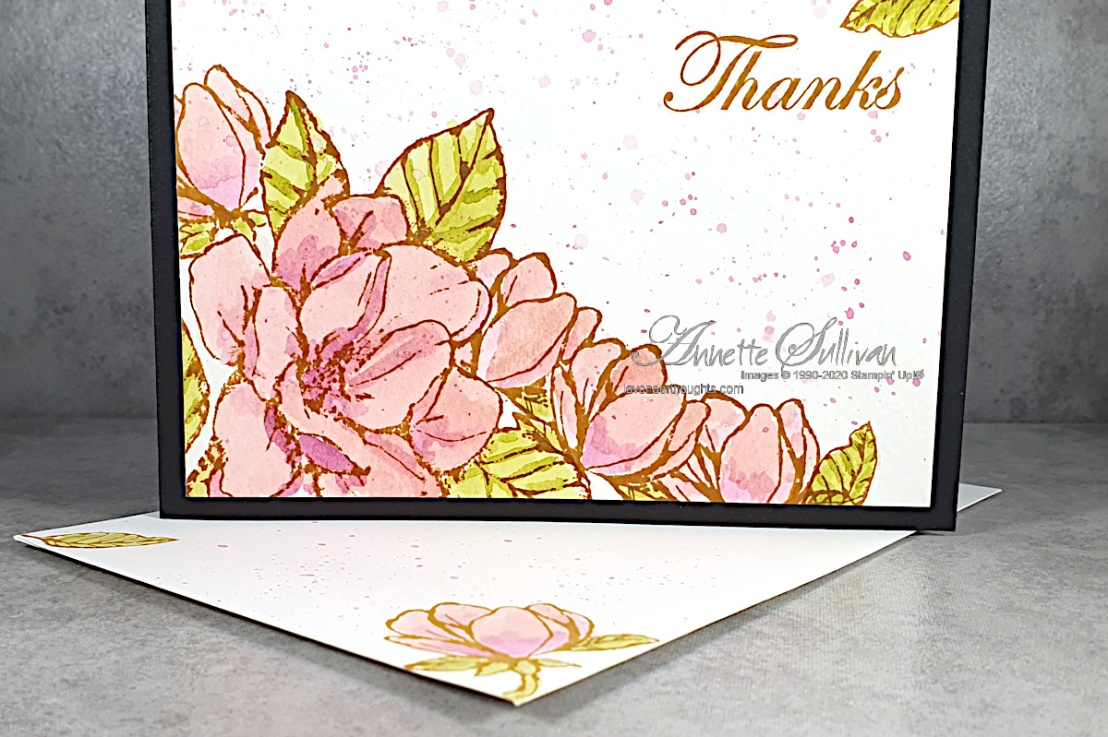 Watercolour Magnolias for the Color Challenge at Splitcoaststampers