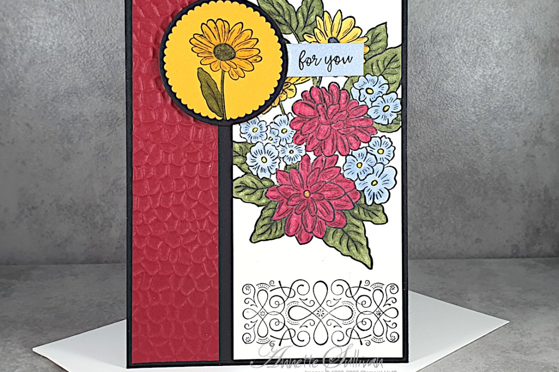 Colouring with Alcohol Markers for the Sketch Challenge at Splitcoaststampers