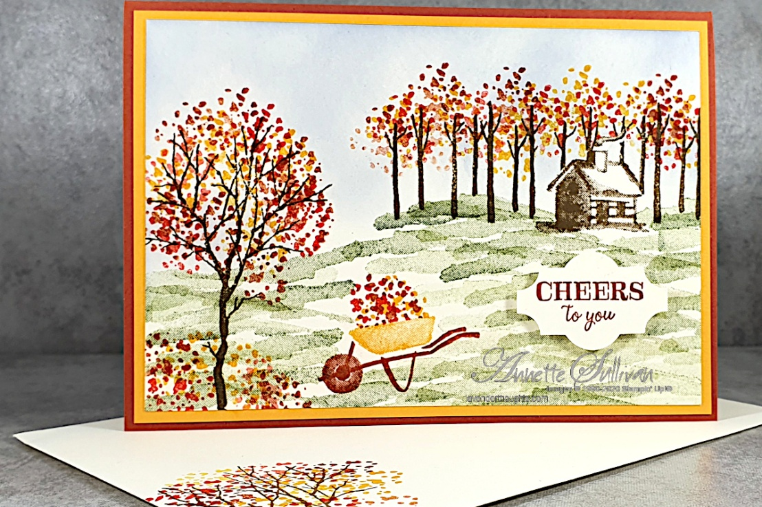 Falling Autumn Leaves for the Color Challenge at Splitcoaststampers