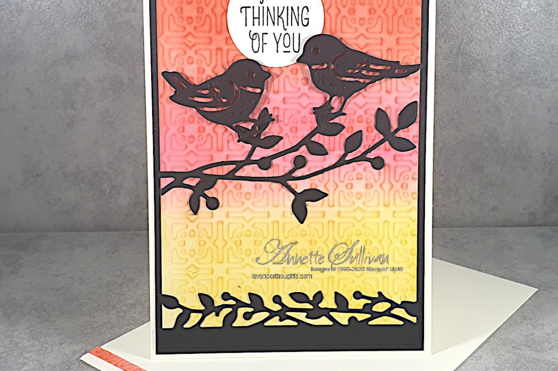 Sunset, Silhouettes and Sneak Peeks for the Color Challenge at Splitcoaststampers