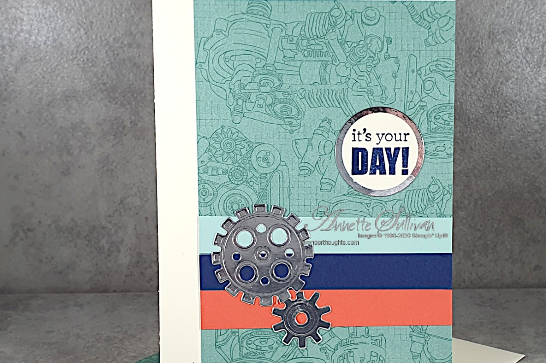 A Quick and Easy Masculine Card for the Sketch Challenge at Splitcoaststampers