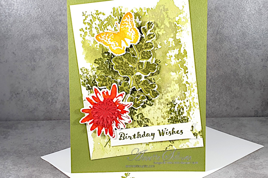 Acrylic Block Watercolour Background for the Color Challenge at Splitcoaststampers