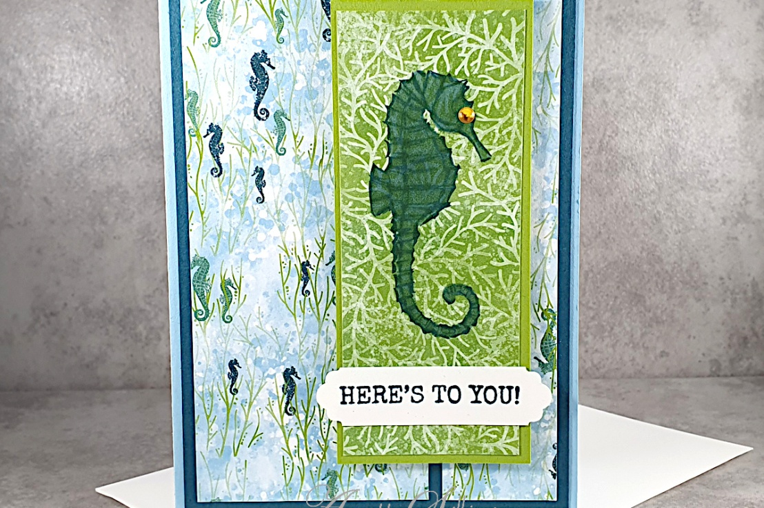 Pretty Seahorse for the Sketch Challenge at Splitcoaststampers