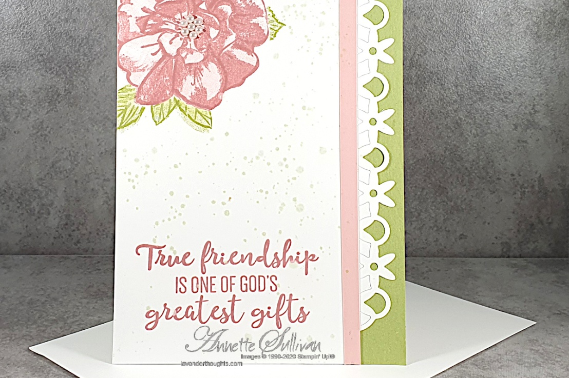 Roses and Pearls for the Color Challenge at Splitcoaststampers