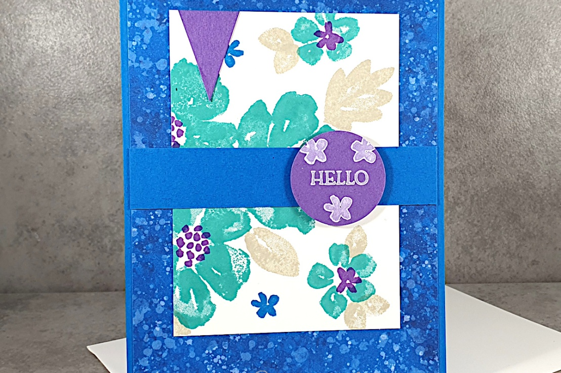 Blossoms in Bloom for the Sketch and Color Challenges at Splitcoaststampers
