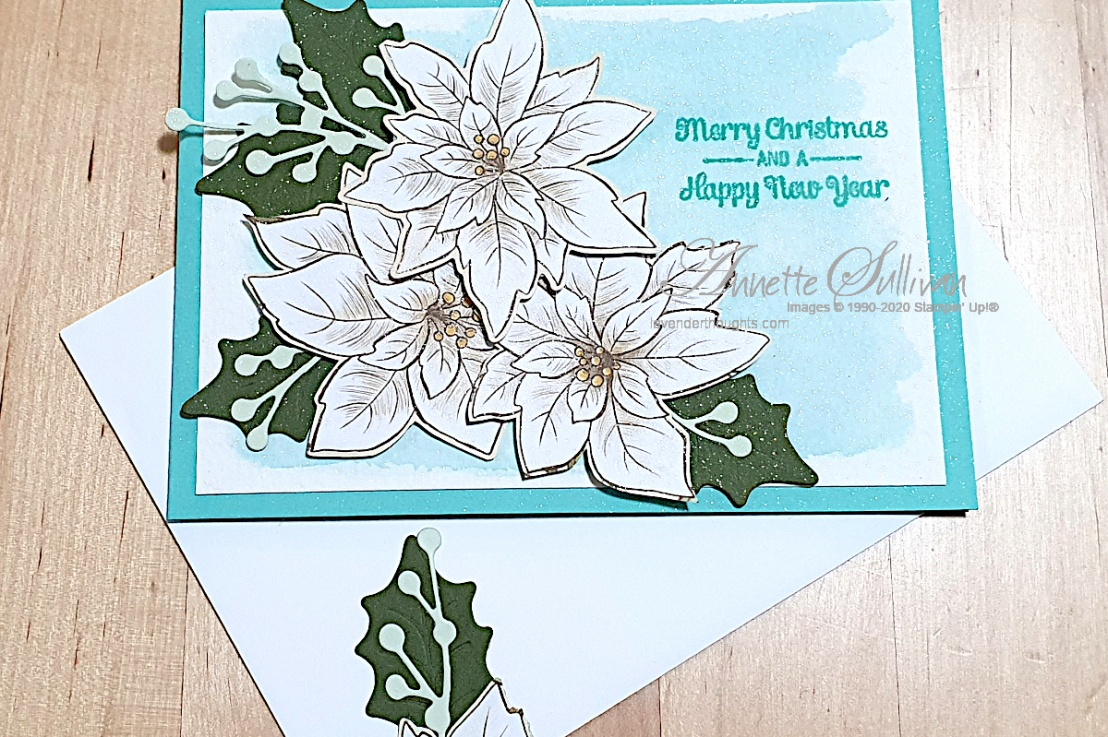 Christmas in July in tones of blue for the Splitcoaststampers ColorChallenge