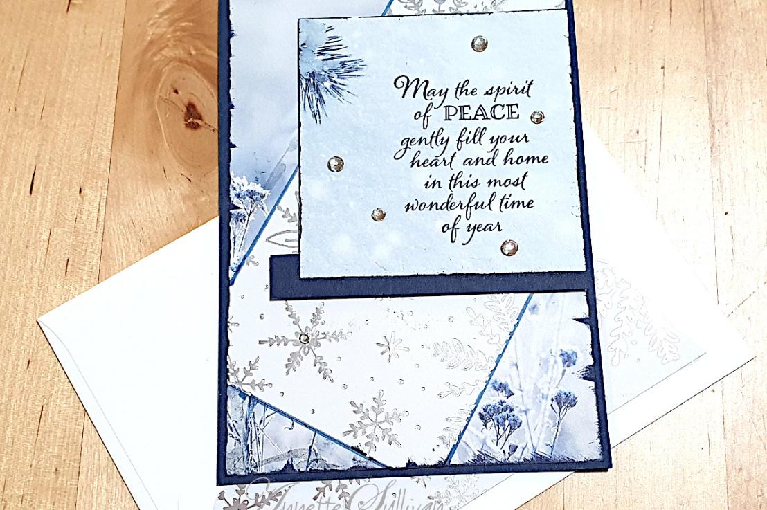 Peaceful Boughs Christmas Card for the Splitcoaststampers SketchChallenge