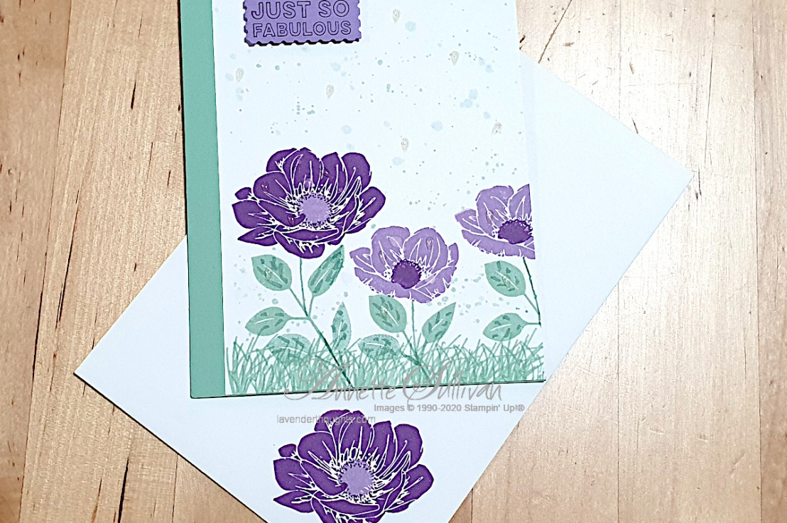 Clean and Simple Floral card for Splitcoaststampers ColorChallenges
