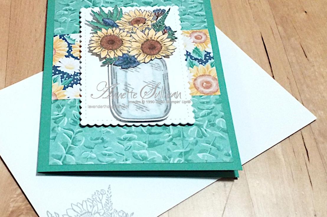 Jar of Flowers for the Splitcoaststampers SketchChallenge