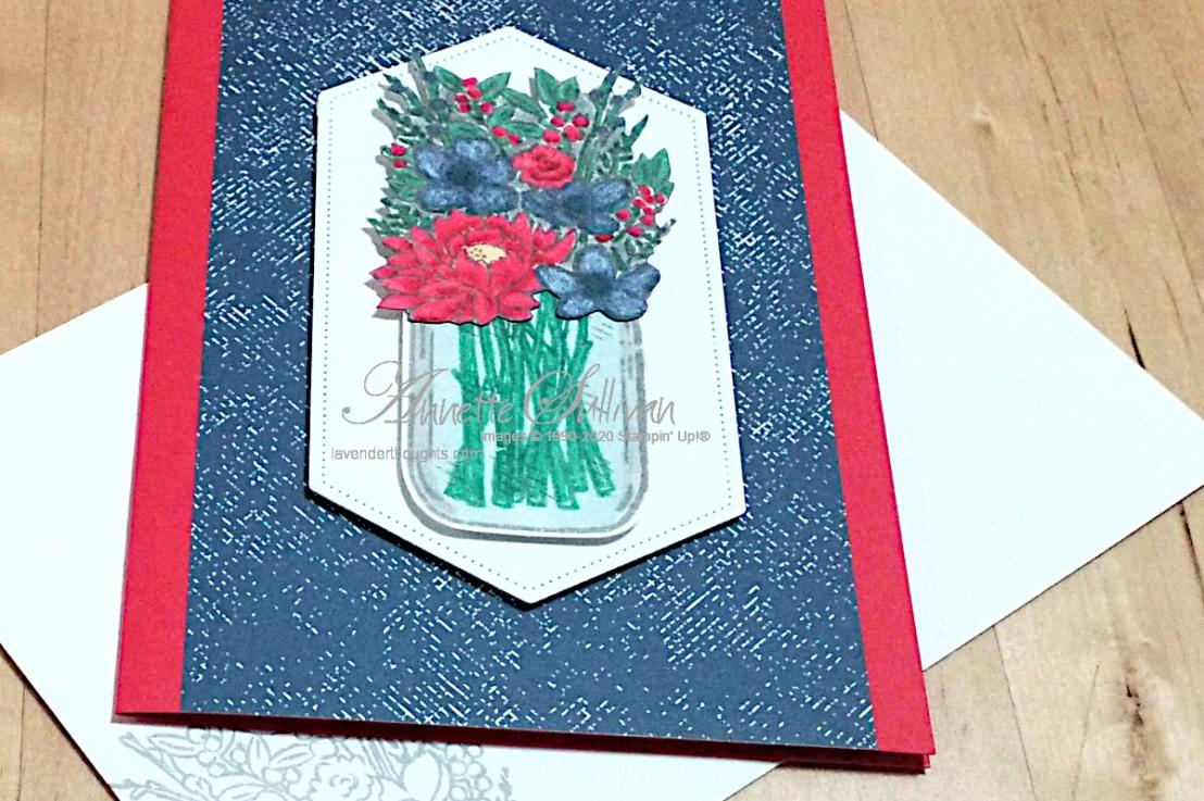 Jar of Flowers in Poppy Parade and MistyMoonlight