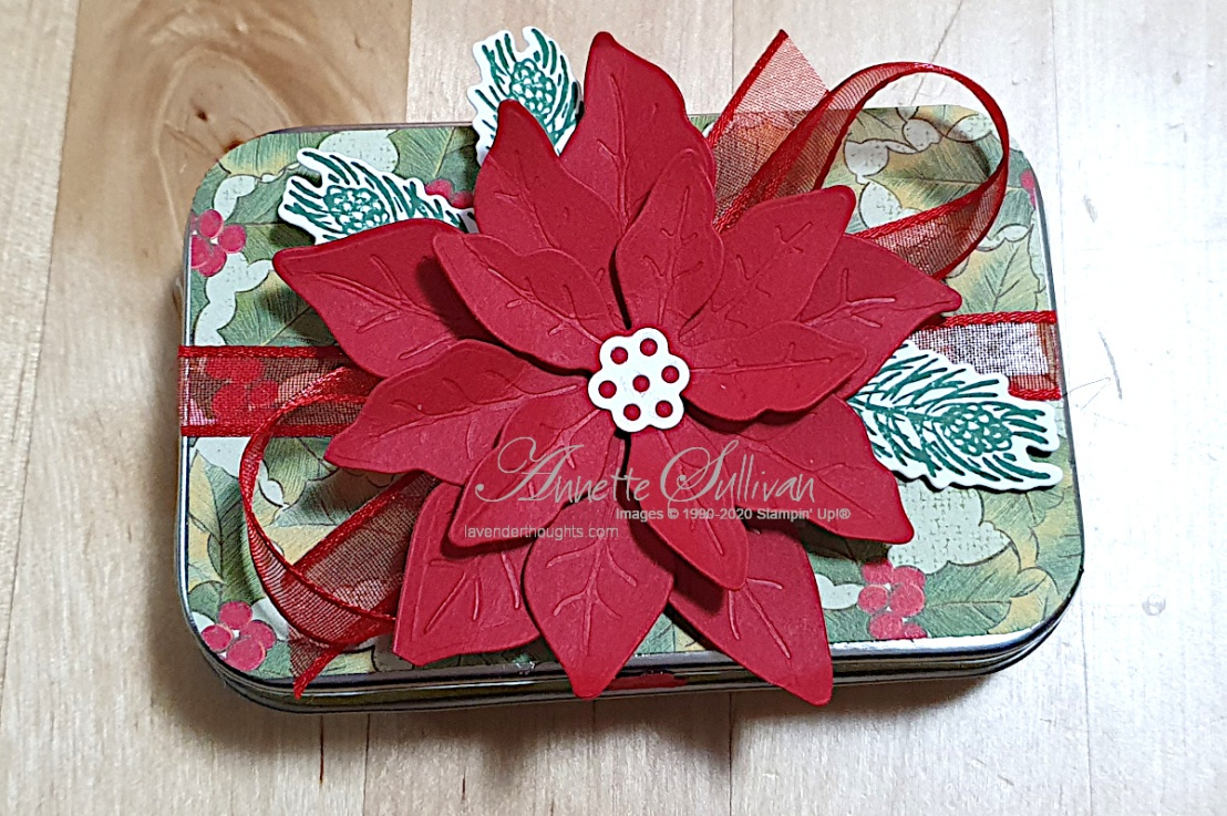 Decorating a Gift Tin forChristmas