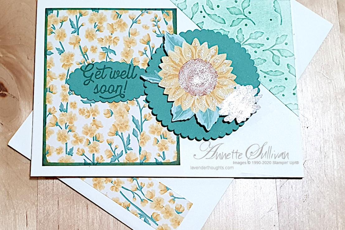 Sunflowers for the Splitcoaststampers SketchChallenge