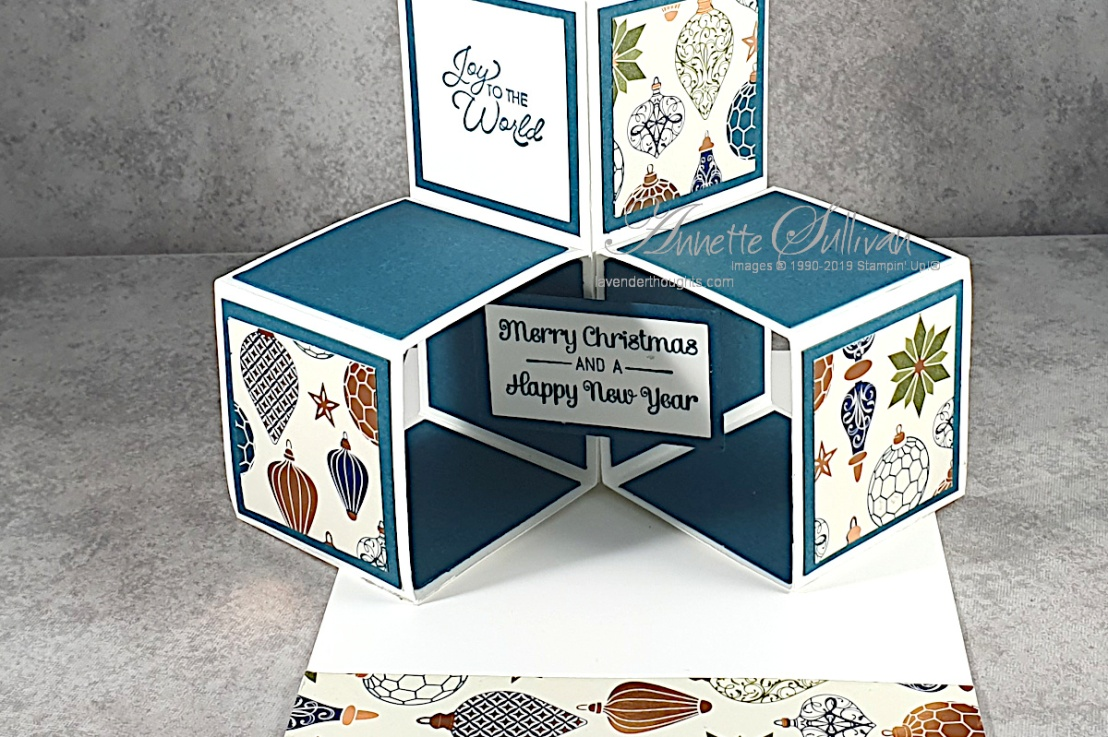 Triple Cube Fancy Fold Card forChristmas