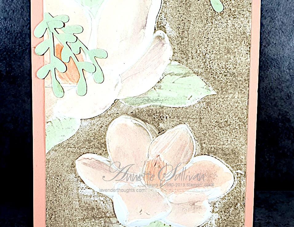 Faux Letterpress with Magnolias for the Splitcoaststampers SketchChallenge
