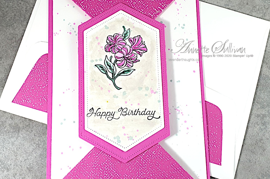 A Double Point Fancy Fold card using Posted ForYou