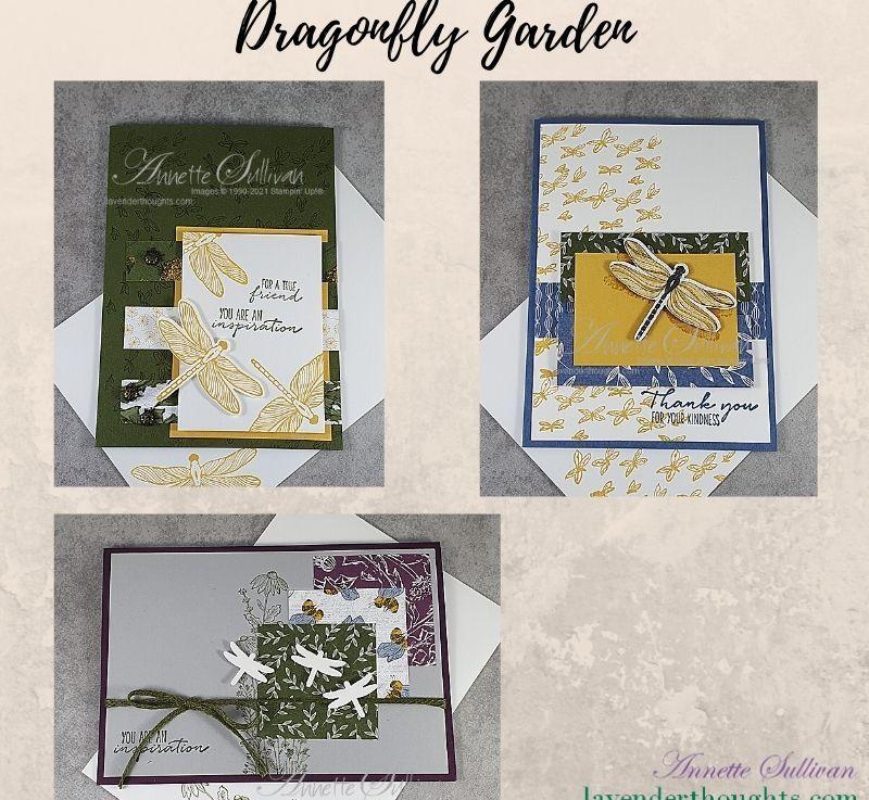 Ways to use Designer Paper with DragonflyGarden