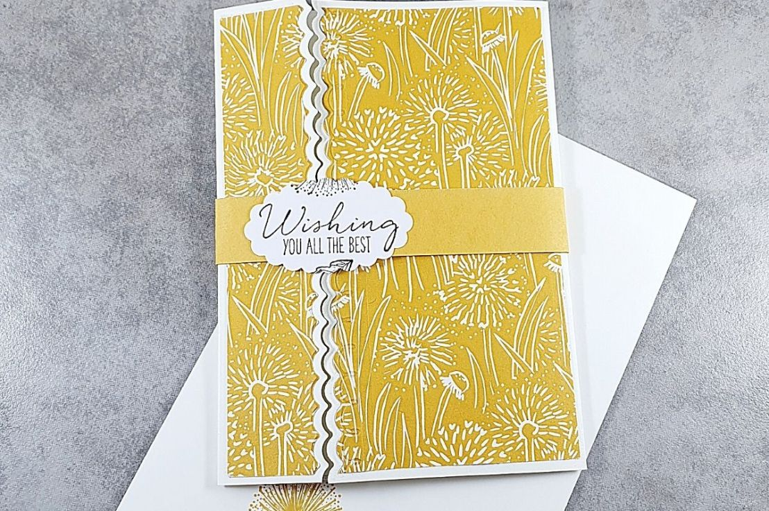 A Die Cut Gate Fold Card for the Sketch Challenge at Splitcoaststampers
