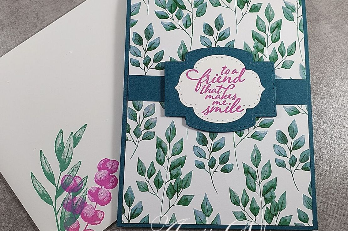 Pop Up Slider Fancy Fold Card with ForeverFern
