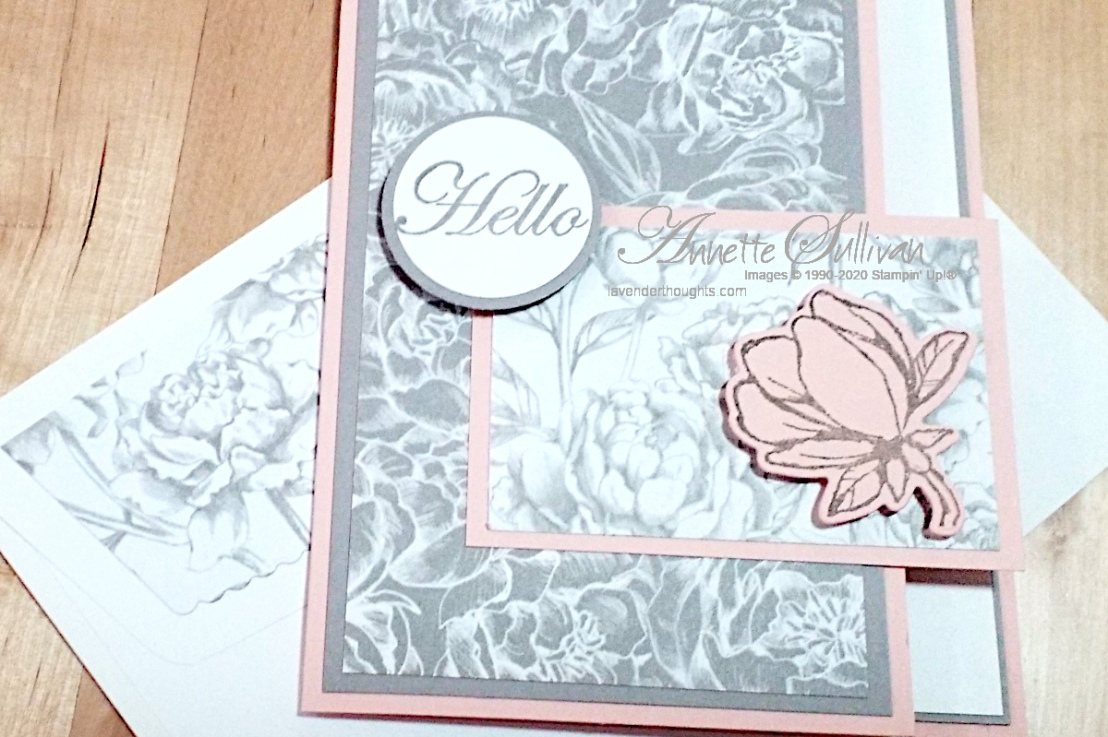 Magnolias and Peonies in a Fancy FoldCard