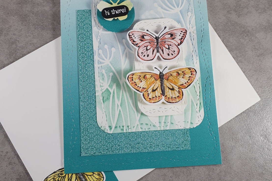 Dandelions and Butterflies for the Sketch Challenge at Splitcoaststampers