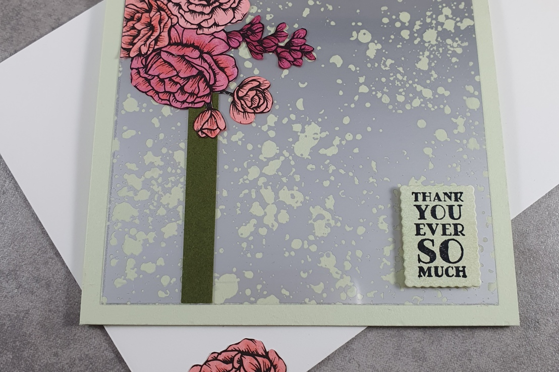 Pink Roses and Mercury Glass Acetate for the Sketch Challenge at Splitcoaststampers