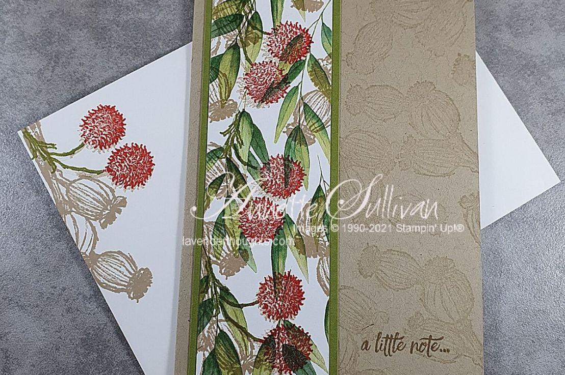 Gum Nuts and Flowers stamped on Designer SeriesPaper
