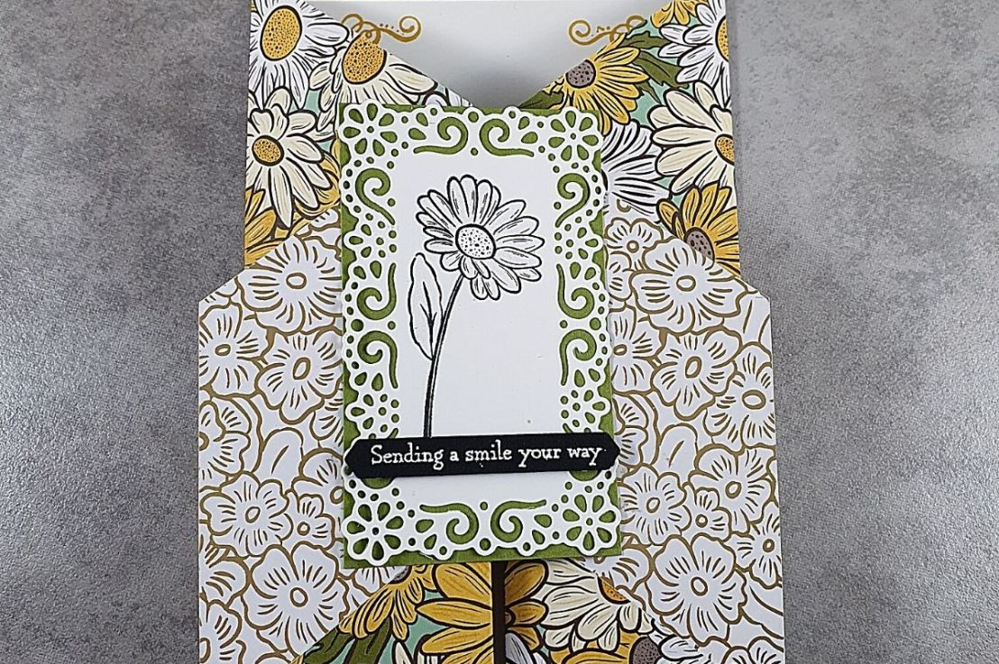Double Gate Fold Card for the Sketch Challenge at Splitcoaststampers