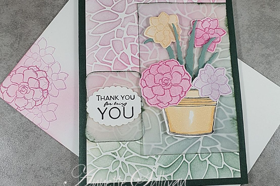 Simply Succulents for the Sketch Challenge at Splitcoaststampers