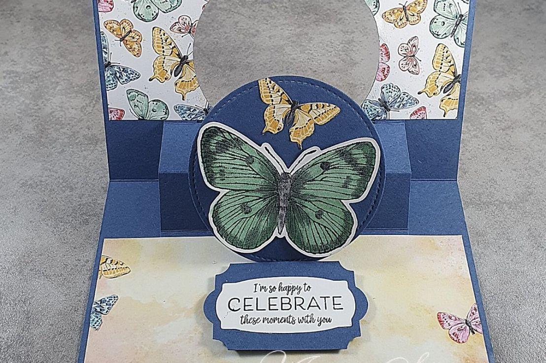 Pop-Up Flip Card withButterflies
