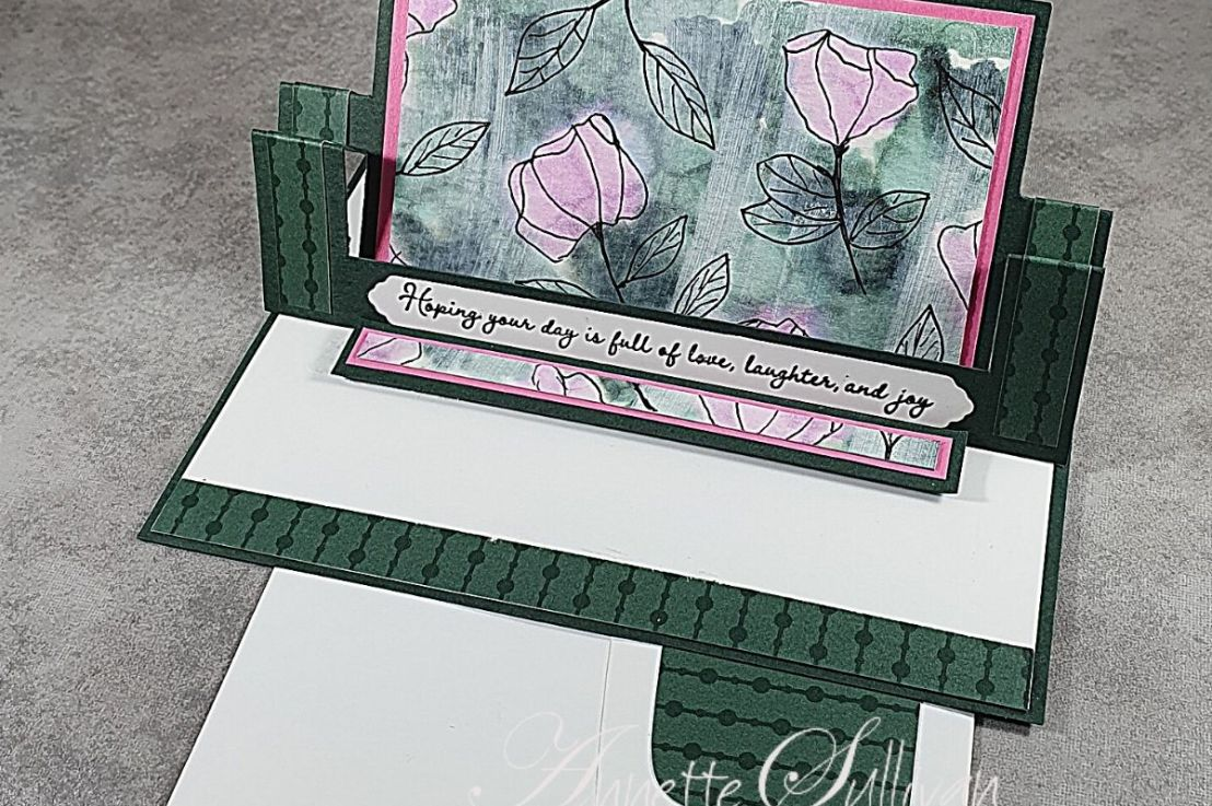 Swing Easel Card for the Sketch Challenge at Splitcoaststampers