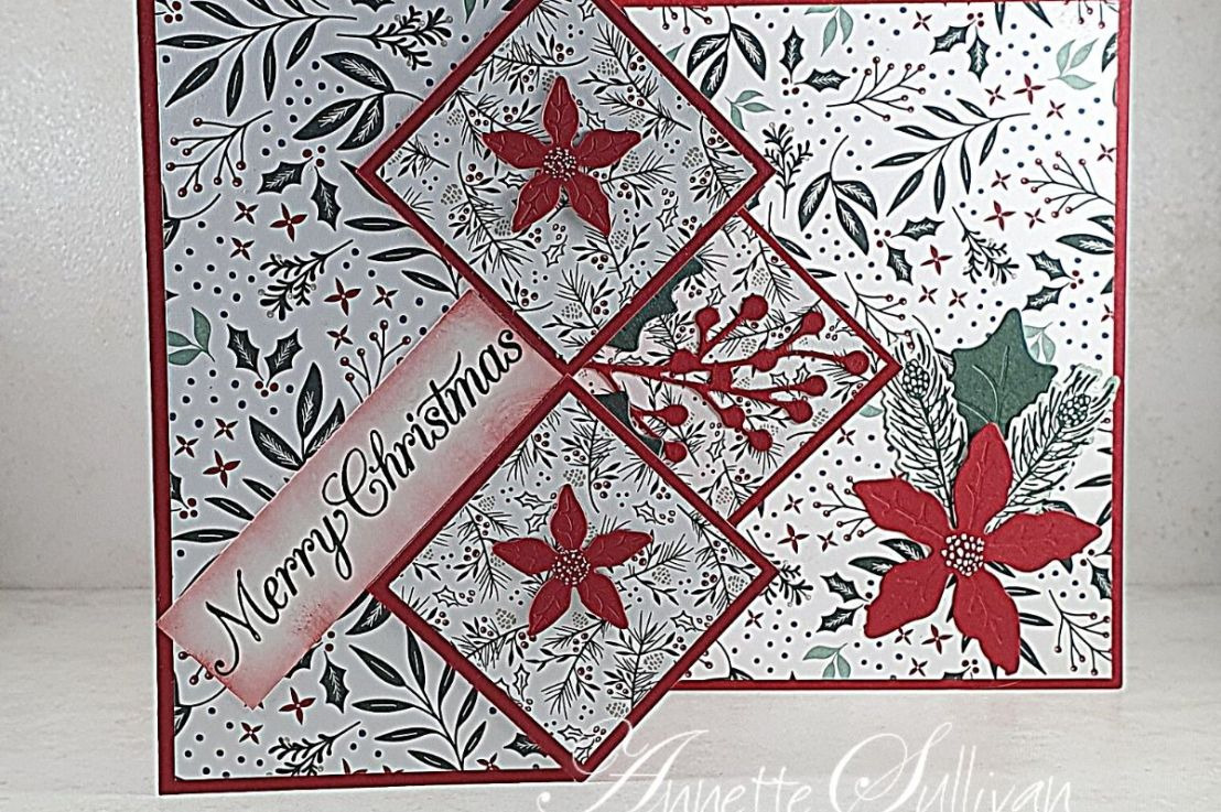 Special Pop Up Card with PoinsettiaPetals