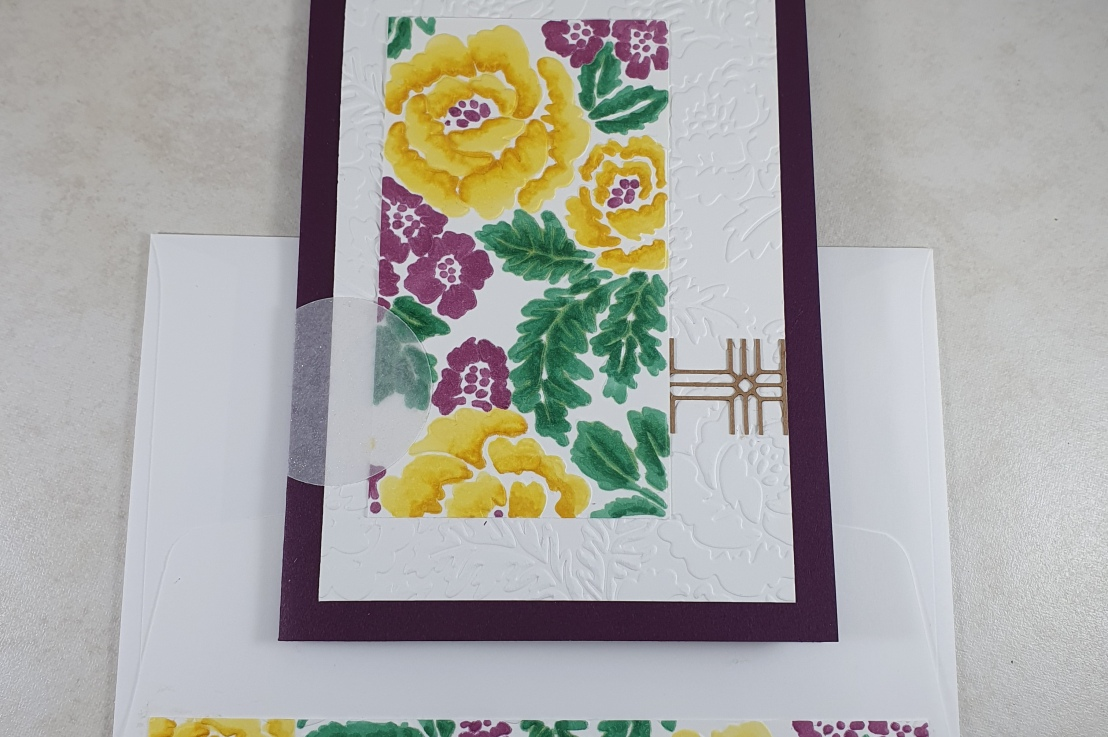 Alcohol Markers on Dry Embossing for the Sketch Challenge at Splitcoaststampers