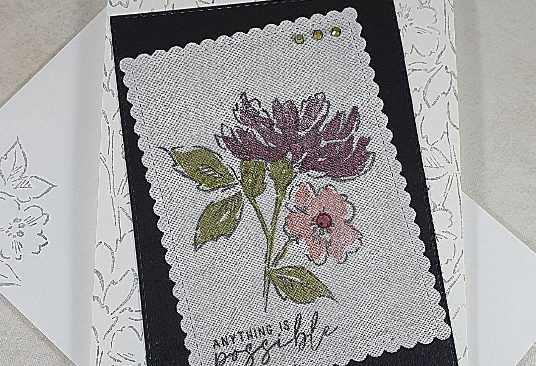 Hand Penned Petals on LinenPaper
