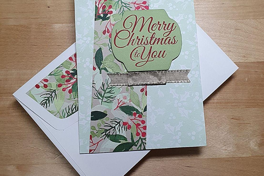Christmas Card for Splitcoaststampers SketchChallenge