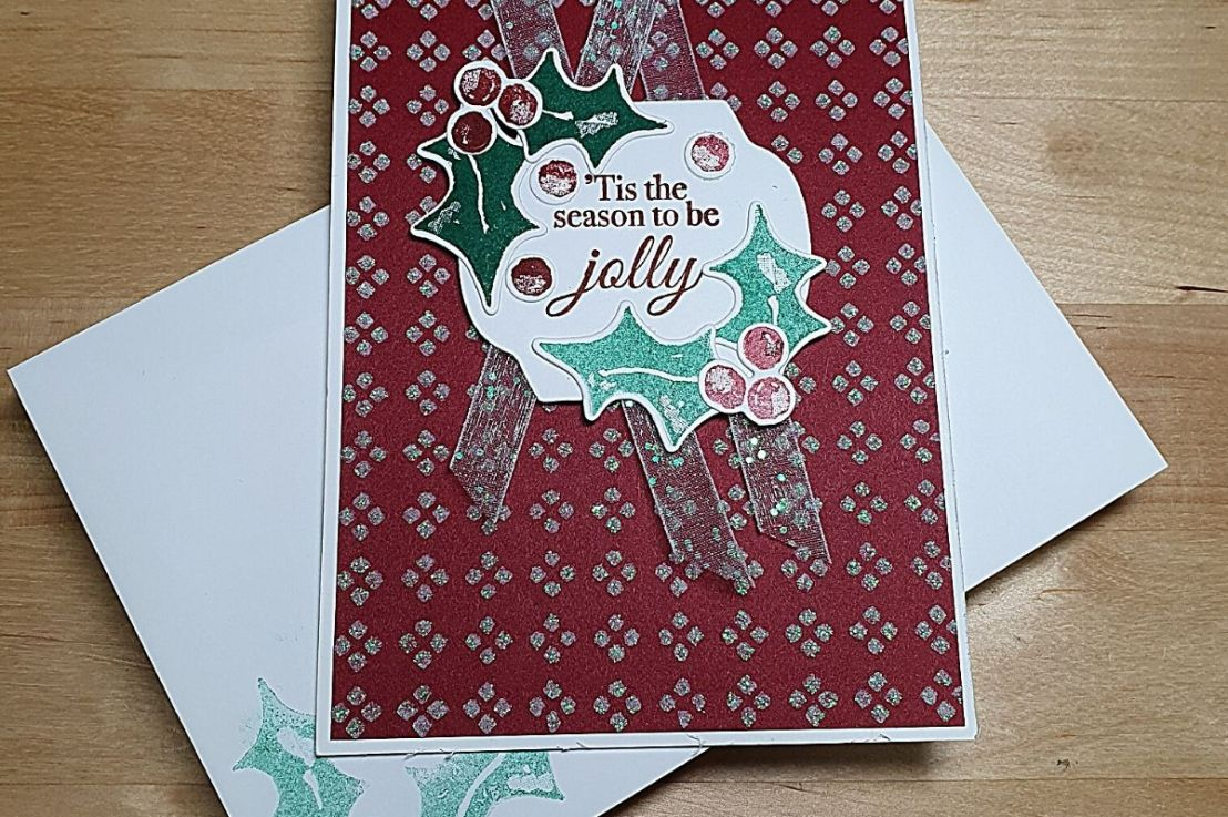 Embossing Paste with Decorative Masks forChristmas