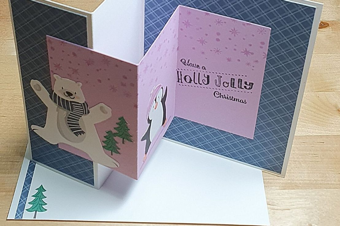 A Double Z Fold Card forChristmas