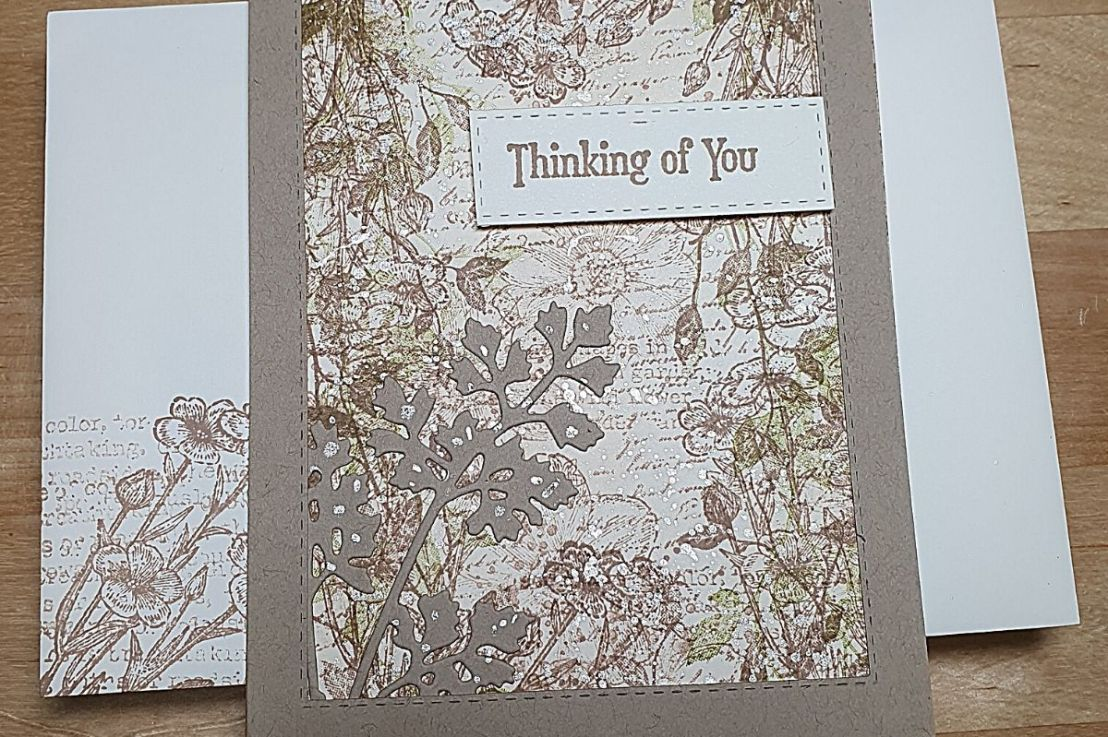 Easy Collage style card using Quiet Meadow and VeryVersailles