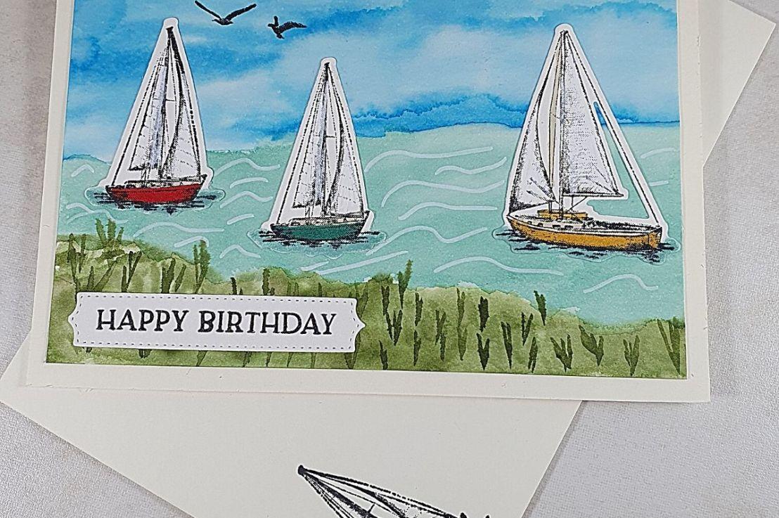 Sailing Home WatercolorYachts